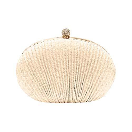 OYSOHE Damen Clutch Tasche Abendtasche Tasche Elegant Handtasche klein Brauttasche für Party Hochzeit Frau Geschenk(Gold,One Size)