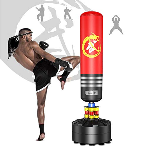 Dripex 5.7 FT Punch Bag Free Sta...