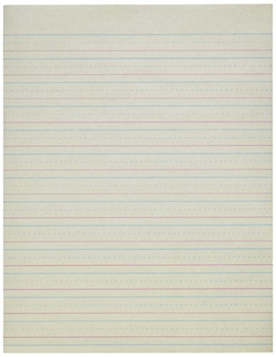School Smart-85319 Red & Blue Newsprint Paper, 1/2 Inch Ruled, 8-1/2 x 11 Inches, 500 Sheets