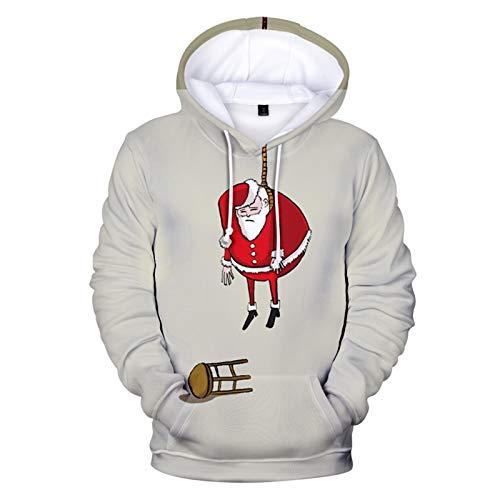 SLYZ Herbst Winter Herren New Christmas 3D Mode Gedruckt Sport Casual Hooded Herren Sweatshirt