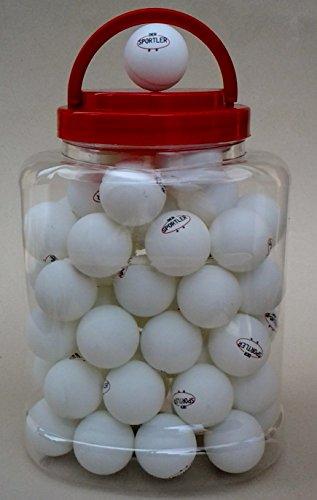 60 Tischtennisbälle** im Eimer Tischtennisball weiss TT-Bälle