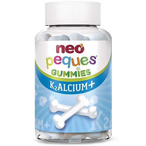 Neo Peques Kalcium Gummies Caramelos - 30 Unidades | Gominolas a Base de Calcio, Vitamina K2 y D3 | Tomar 1 o 2 al día | Para Mayores de 3 años | Caramelo Masticable Infantil con Sabor a Yogur