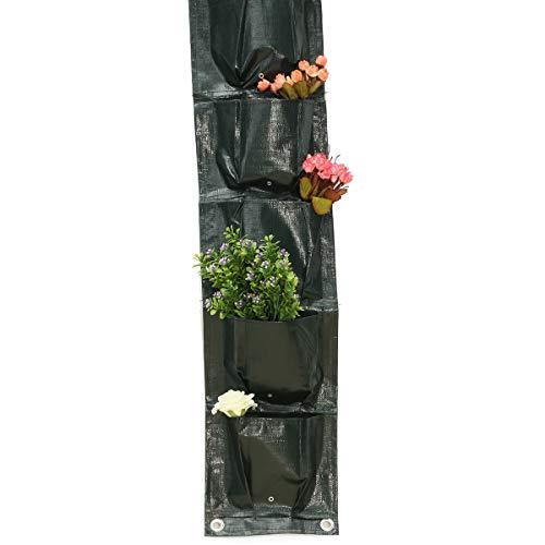 MJJEsports 8 Zakken Thuis Tuin Balkon Plant Tassen Opknoping Bloem Pot PE Planting Grow Opbergtas