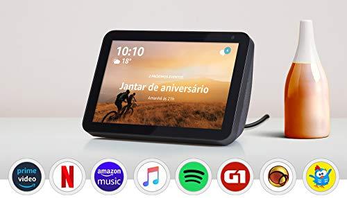 """Echo Show 8 - Smart Speaker com tela de 8"""" e Alexa - Cor Preta"""