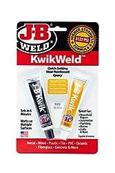 top 10 jb weld plasticweld JB Welding 8276 KwikWeld Steel Reinforced Fast Curing Epoxy Resin – Dark Gray