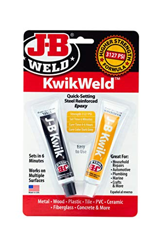 J-B Weld 8276 KwikWeld Quick Setting Steel Reinforced Epoxy - Dark Grey
