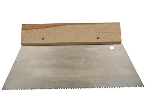 Toolland HE927250 Zahnspachtel, Rechteckig - Fein, 250 mm Breite