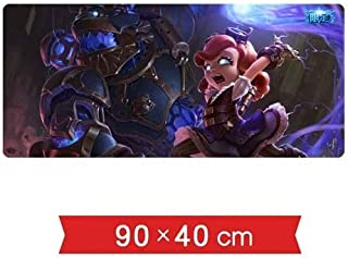 Mouse pad Mouse Pad Table Mat LOL Game Character The Dark Child Annie Hastur Hex Technology Skin Pattern Oversized Lock No...