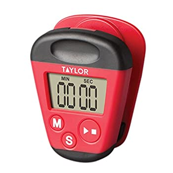 Taylor Precision Products Kitchen Clip Digital Timer 3X 7X 9 Red