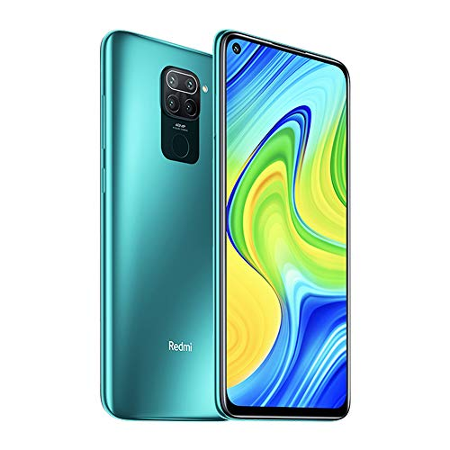comparateur Smartphone Xiaomi Redmi Note 9, 3 Go de RAM, 64 Go, 6,53 pouces MTK Helio G85 DotDisplay, mode plein écran, 48 MP + 8 MP + 2 MP + 2 MP, AI Quad Camera Hot Shot Processor version globale (vert)