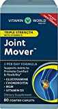 Vitamin World Triple Strength Joint Mover with Vitamin D 80 Caplets, Promotes Healthy Joints, Promotes Comfort and Flexibility, Coated, Gluten Free