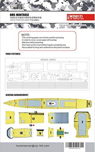 フライホークモデル AIRBRUSH HUNTER 1/350 イギリス海軍 23型フリゲート モントローズ F236 甲板マスキングシート (トランぺッター 04545用) プラモデル用マスキングシール FLYM350121
