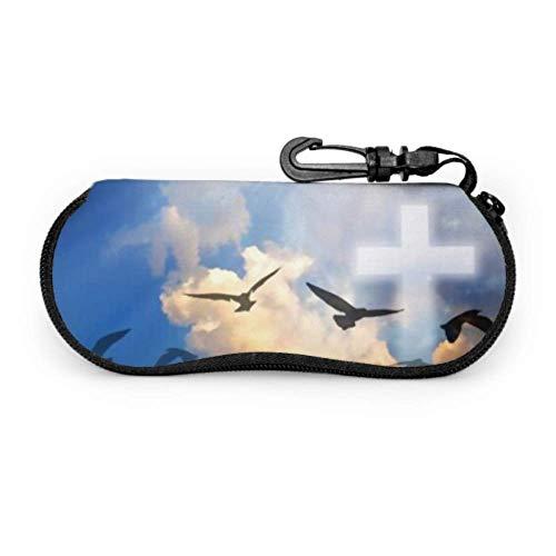 Sonnenbrille Soft Case, Imagine Illuminates Beautiful Neopren Brillenetui mit Reißverschluss und Gürtelclip für Brillen, Rahmen, Tragetasche Make-up-Tasche für Schlüssel, Bleistifte, Karten