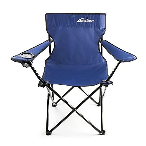LIMUZI Silla Plegable al Aire Libre Almacenamiento portátil con reposabrazos Camping Silla Silla de Pesca Silla de boceto Puede Cargar 240 kg