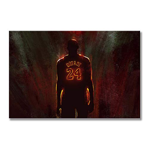 WALKKING WAYS Decoration Home Décor Kobe Bryant Posters and Prints Wall Pictures for Living Room Posters and Prints Wall Pictures The Los Angeles Lakers (Framed,40x60 cm) image