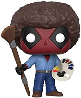 Funko Pop. Marvel: Deadpool Playtime: Deadpool Bob Ross, Estándar