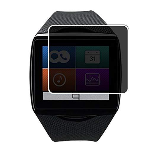 Vaxson Anti Spy Schutzfolie, kompatibel mit Qualcomm Toq smartwatch smartwatch Smart Watch, Displayschutzfolie Bildschirmschutz Privatsphäre Schützen [nicht Panzerglas]