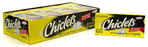 Chiclets Gum by Adams (Mexican version) - 20 Packs of 12 Pieces Each; Variety Pack