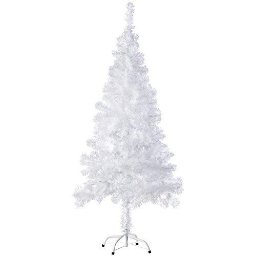 TecTake Árbol de Navidad Artificial con Soporte Metálico tamaños - (150 cm | 310 Ramas | Blanco | No. 402818)