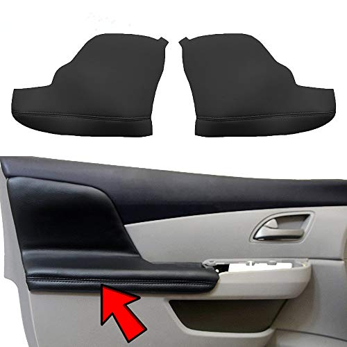 KBH Auto Door Panel Armrest Cover for Honda Odyssey 2011-2017 Vinyl Microfiber Leather Car Door Armrest Replacement Pair Black