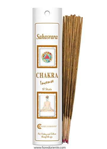 Fiore d 'oriente Sahasrara 7ème Chakra dans Un Emballage Blanc d'encens, en Bambou, Multicolore, Lot de 8