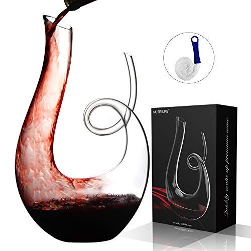 Decanter per Vino, Caraffa Vino, Vino Caraffa Decanter, Decanter Vino, Decanter per Vino Caraffa, Decanter per Vino Rosso, Decanter per Vino a Forma di Cigno da 1.7L (Con Spazzola per la Pulizia)