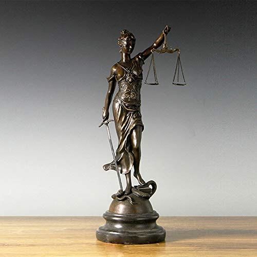 CIDCIJN Statue,Skulpturen,Statuen,Statuette,Lady Justice Statue Bronze Griechische Göttin Skulptur Figur Antike Kunst Perfekte Home Decor Sammlerstück