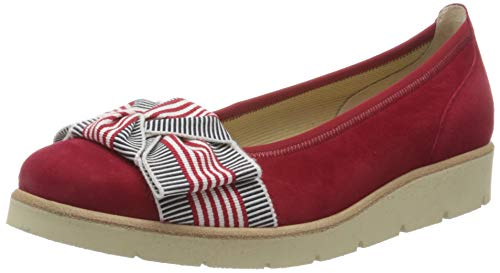 Gabor Shoes Damen Casual Geschlossene Ballerinas, Rot (Rubin 15), 41 EU
