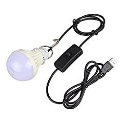 USB plug to fit anywhere - Sudden blackout? Camping outside, No electricity? Don't worry, Onite 5W Portable USB Emergency Lamp will help you out. With a power bank or any USB port. Hook designing - Convenient with a metal wire hook for portable to ha...