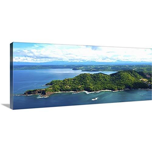 "GREATBIGCANVAS Gallery-Wrapped Canvas Island in Pacific Ocean, Four Season Resort, Papagayo Bay, Guanacaste, Costa Rica by 30""x13"""