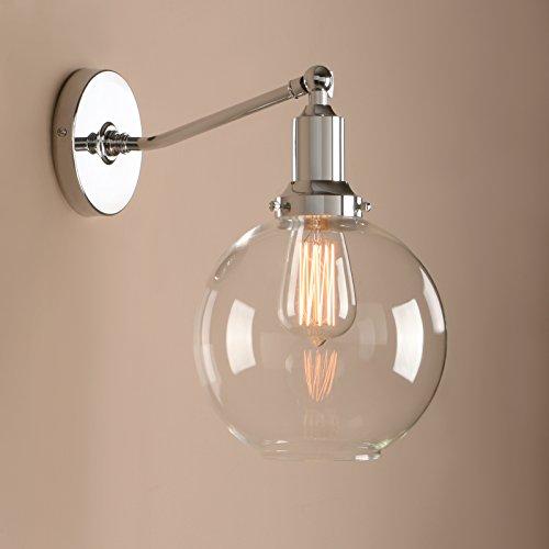 Pathson Kugel Klar Glas Antik Deko Design innen Wandbeleuchtung Wandleuchten Loft-Wandlampen...
