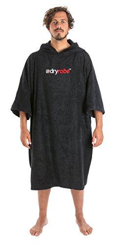 Dryrobe Handdoekwissel met korte mouwen Wisselend Dryrobe Poncho - Groot in zwart - Unisex