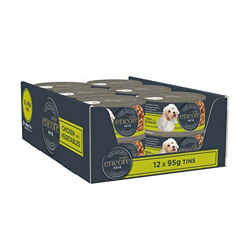 Encore Natural and Complete Wet Puppy Food, Chicken with Vegetables Tin in 95 g Tin (Pack of 12)