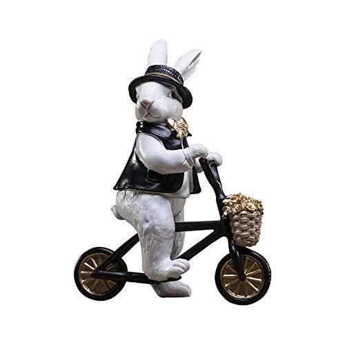 WANGXINQUAN Decoración para el hogar Acentos lindos animales de conejo, sala de estar, dormitorio, artículos de decoración, manualidades, regalos de cumpleaños creativos (color : C)
