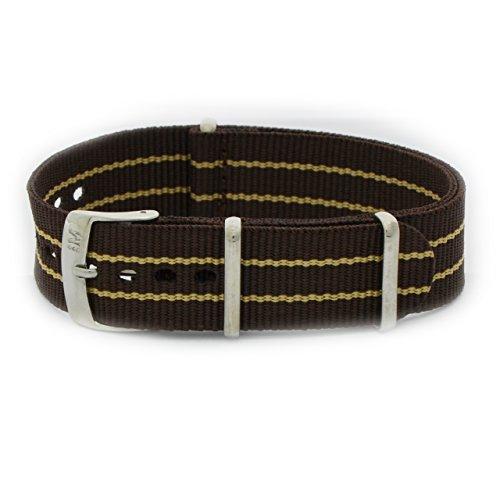Bruine band van gevlochten band, 18 mm, voor Omega tag-dag heuer Rolex Tudor, Morellato