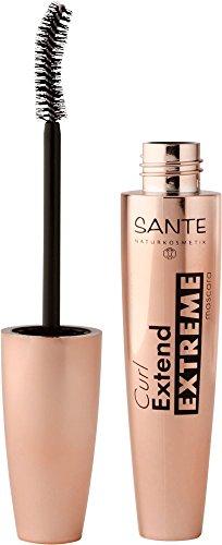 SANTE Naturkosmetik Curl Extend Extreme Mascara, 01 zwart, geeft volume en verlengt de wimpers, veganistisch, biologische extracten, 10 ml