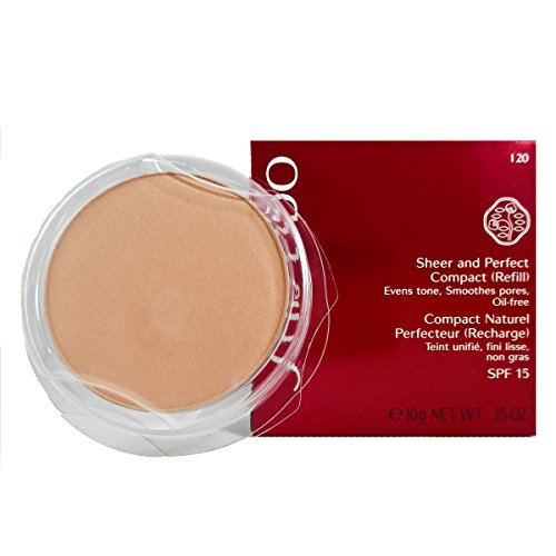 Shiseido Sheer und Perfect Compact Refill unisex, Puder Foundation 10 g, Farbnummer: I20 light ivory Refill, 1er Pack (1 x 0.21 kg)
