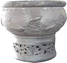 Beijing Old Beijing black pottery fish bowl chamber breathable eco-friendly green moss can grow out of the living room balcony with outdoor patio