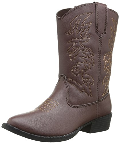 Deer Stags Ranch Kids Cowboy Boot (Toddler/Little Kid/Big Kid), Dark Brown, 5 M