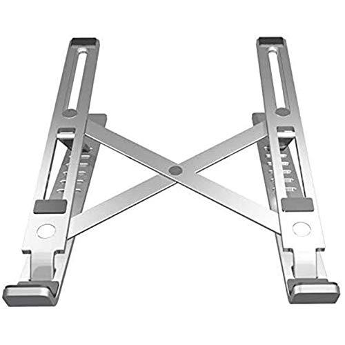 Wivarra Soporte PortáTil Ajustable para Computadora PortáTil Peso Ultra Delgado de Aluminio Altura ErgonóMica Ajustable una Nivel de los Ojos (Plateado)