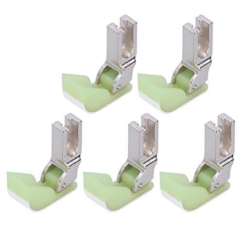 Tnfeeon Prensatelas para máquina de Coser Industrial, 5 Piezas para máquina de Coser Industrial, prensatelas con bisagras, Accesorios de plástico de algodón para Coche Plano