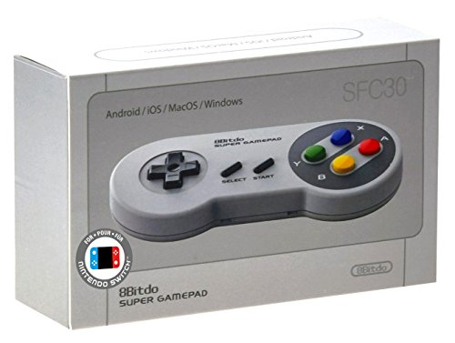 8bitdo SFC30 Wireless Gamepad Bluetooth Controller mit Classic Joystick für iOS/Windows/Android