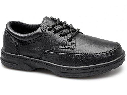 Dr Keller Brian 3 Caballeros Cuero Con Cordones Horma Ancha Zapatos Topo - Negro, 43