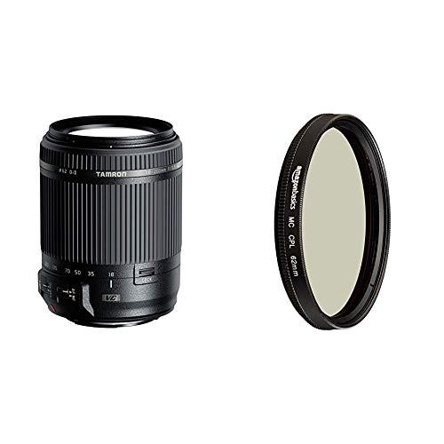 Tamron 18-200mm F3.5-6.3 Di II VC Canon & AmazonBasics Zirkularer Polarisationsfilter - 62mm