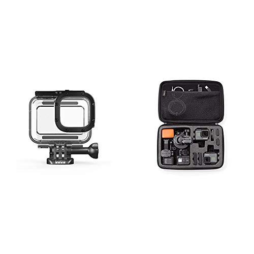 GoPro Schutzgehäuse für HERO8 Black (Offizielles GoPro Zubehör) & AmazonBasics Tragetasche für GoPro Actionkameras, Gr. L