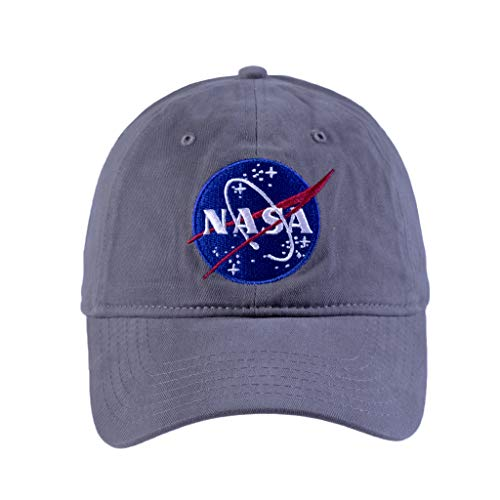 Concept One Herren NASA Washed Twill Baseball Cap, Adjustable Baseballkappe, grau, Einheitsgröße
