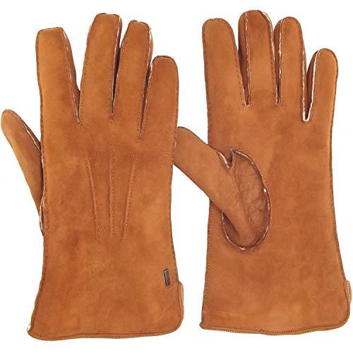 ESKA Carl 0142 Herren Lammfell-Handschuhe, chestnut, Gr. 8 1/2