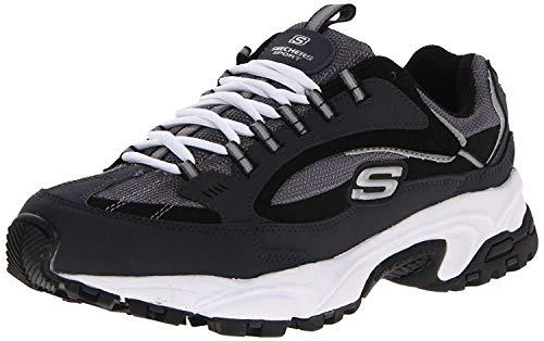 Skechers Sport Men's Stamina Nuovo Cutback Lace-Up Sneaker,Navy/Black,12 M US
