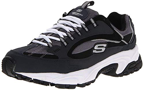 Skechers Sport Men's Stamina Nuovo Cutback Lace-Up Sneaker,Navy/Black,10 2E US