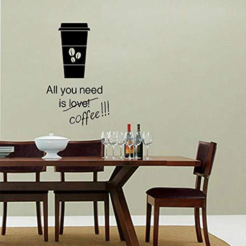 Decors meisjes 46.9Cm*72Cm alles wat je nodig hebt is liefde of koffie Decor voor keuken Decal PVC muurstickers Decor